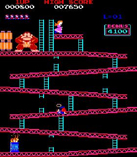 Screenshot Thumbnail / Media File 1 for Donkey Kong (US set 1)