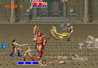 Screenshot Thumbnail / Media File 1 for Golden Axe (set 1, World, FD1094 317-0110)