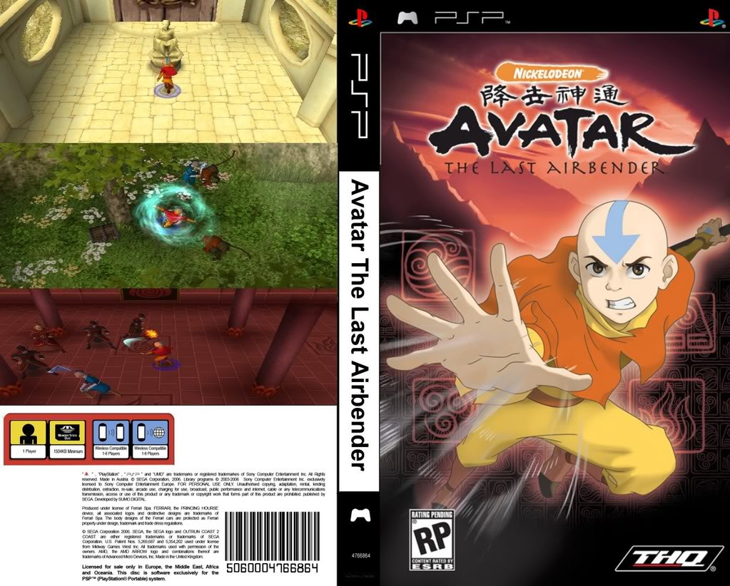 Avatar: The Last Airbender for PSP (2006) - MobyGames
