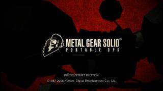 Screenshot Thumbnail / Media File 1 for Metal Gear Solid - Portable Ops (USA)