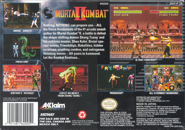 Mortal Kombat 2 NES ROM