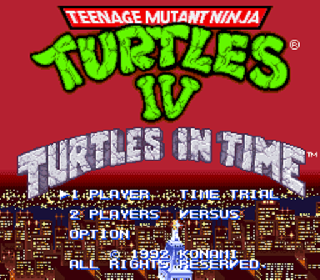 Screenshot Thumbnail / Media File 1 for Teenage Mutant Ninja Turtles IV - Turtles in Time (USA)