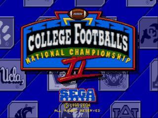 Screenshot Thumbnail / Media File 1 for College Football's National Championship II (USA)