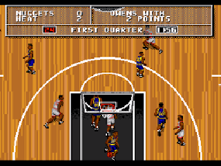 Screenshot Thumbnail / Media File 1 for NBA Action '95 Starring David Robinson (USA, Europe)