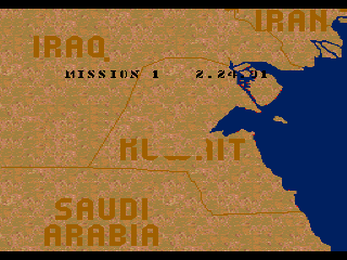Screenshot Thumbnail / Media File 1 for Super Battletank - War in the Gulf (USA)