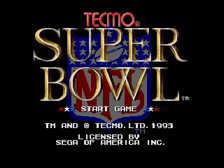 Screenshot Thumbnail / Media File 1 for Tecmo Super Bowl (USA) (October 1993)