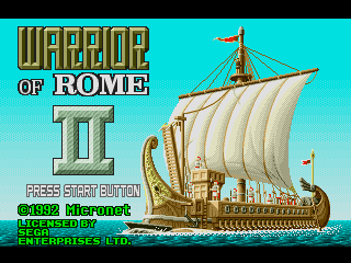 Screenshot Thumbnail / Media File 1 for Warrior of Rome II (USA)