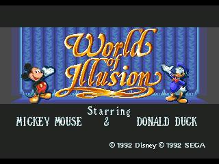 Screenshot Thumbnail / Media File 1 for World of Illusion Starring Mickey Mouse and Donald Duck (USA)