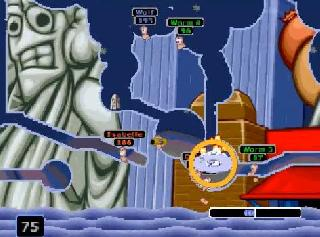 Screenshot Thumbnail / Media File 1 for Worms Armageddon (USA) (En,Fr,Es)