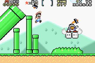 Screenshot Thumbnail / Media File 1 for Super Mario World - Super Mario Advance 2 (U)(Mode7)