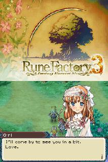 Screenshot Thumbnail / Media File 1 for Rune Factory 3 - A Fantasy Harvest Moon (U)