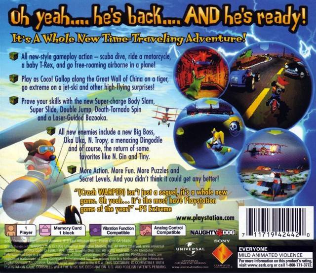 Crash bandicoot 3 warped (europe) rom (iso) download for sony.