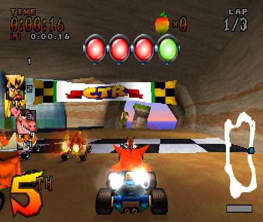 Crash Bandicoot Car Race Games