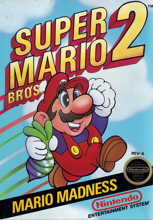 Super Mario Bros. 2 (Super Mario Bros USA) (USA Box Cover)
