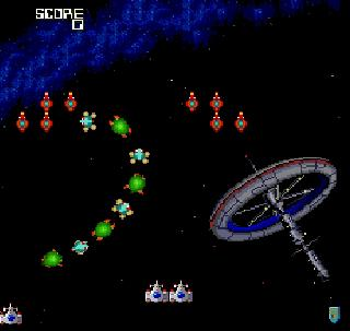 Screenshot Thumbnail / Media File 1 for Galaga '90 (USA)
