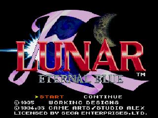 Screenshot Thumbnail / Media File 1 for Lunar - Eternal Blue (U)