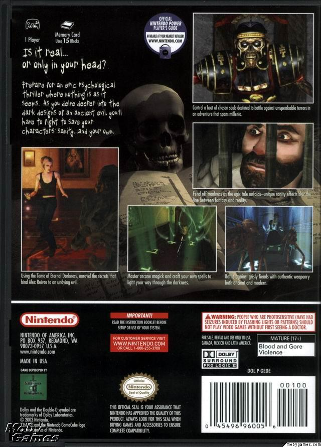 Eternal Darkness ISO < GCN ISOs | Emuparadise