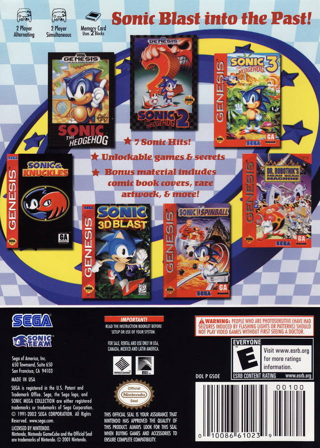 Sonic Mega Collection ISO