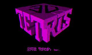 Screenshot Thumbnail / Media File 1 for 3-D Tetris (USA)
