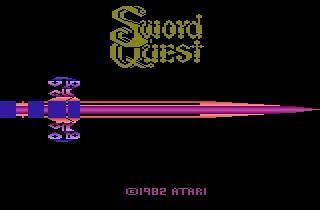 Screenshot Thumbnail / Media File 1 for Swordquest - EarthWorld (Adventure I, SwordQuest I - Earthworld) (1982) (Atari, Dan Hitchens) (CX2656)