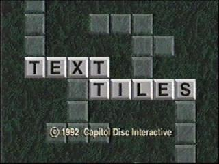 Screenshot Thumbnail / Media File 1 for Text Tiles (CD-i)