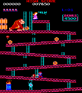 Screenshot Thumbnail / Media File 1 for Donkey Kong (US set 1)
