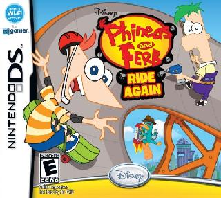 Screenshot Thumbnail / Media File 1 for Phineas and Ferb - Ride Again (DSi Enhanced) (U)