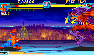Screenshot Thumbnail / Media File 1 for Marvel Vs. Capcom: Clash of Super Heroes (USA 980123)