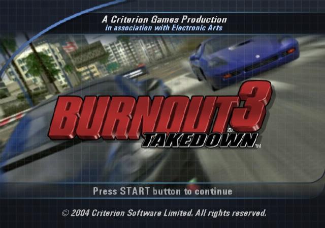 cheats burnout 3: