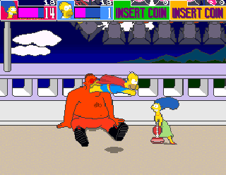 Screenshot Thumbnail / Media File 1 for The Simpsons (4 Players World, set 1)
