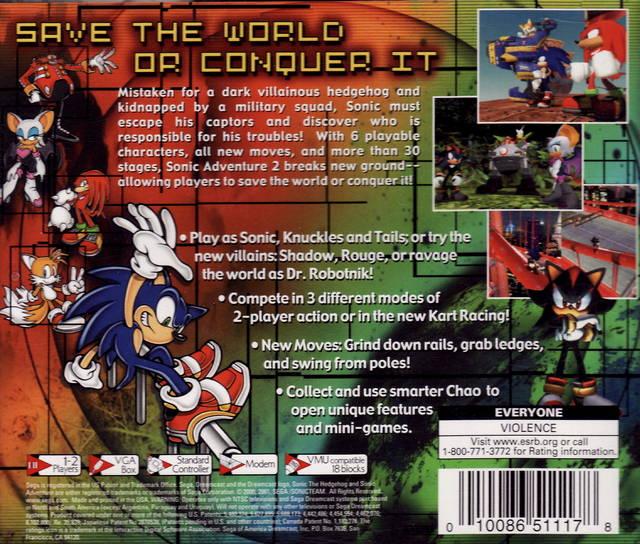 Screenshot Thumbnail / Media File 2 for Sonic Adventure 2