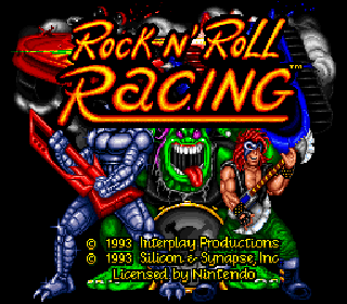 Screenshot Thumbnail / Media File 1 for Rock n' Roll Racing (USA)