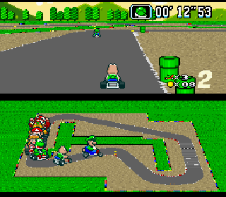 Screenshot Thumbnail / Media File 1 for Super Mario Kart (USA)