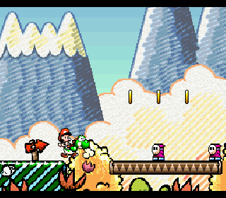Screenshot Thumbnail / Media File 1 for Super Mario World 2 - Yoshi's Island (USA)