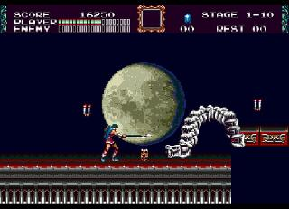 Screenshot Thumbnail / Media File 1 for Castlevania - Bloodlines (USA)