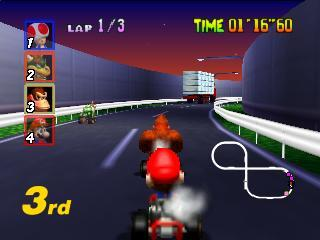 Screenshot Thumbnail / Media File 1 for Mario Kart 64 (Europe)