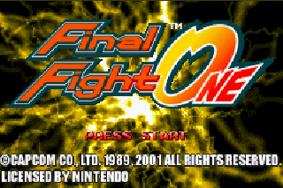 Screenshot Thumbnail / Media File 1 for Final Fight One (E)(Paracox)