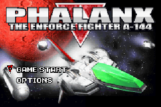 Screenshot Thumbnail / Media File 1 for Phalanx - The Enforce Fighter A-144 (J)(Eurasia)