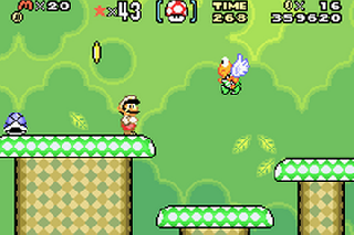 Screenshot Thumbnail / Media File 1 for Super Mario World - Super Mario Advance 2 (U)(Mode7)