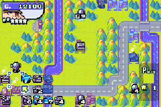 Screenshot Thumbnail / Media File 1 for Advance Wars 2 - Black Hole Rising (U)(Mode7)