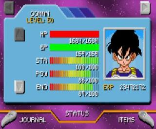 Screenshot Thumbnail / Media File 1 for Dragon Ball Z - The Legacy of Goku II (U)(TrashMan)