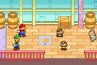 Screenshot Thumbnail / Media File 1 for Mario And Luigi Superstar Saga (E)(Menace)