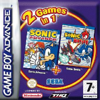 Screenshot Thumbnail / Media File 1 for 2 in 1 - Sonic Advance & Sonic Battle (E)(Rising Sun)