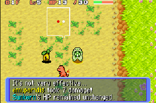 Screenshot Thumbnail / Media File 1 for Pokemon Mystery Dungeon - Red Rescue Team (U)(RDG)