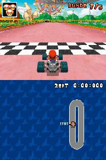 Screenshot Thumbnail / Media File 1 for Mario Kart DS (J)(Mode 7)