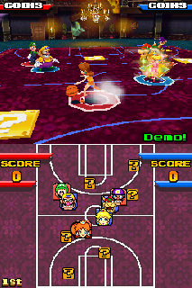 Screenshot Thumbnail / Media File 1 for Mario Hoops 3 on 3 (U)(Legacy)