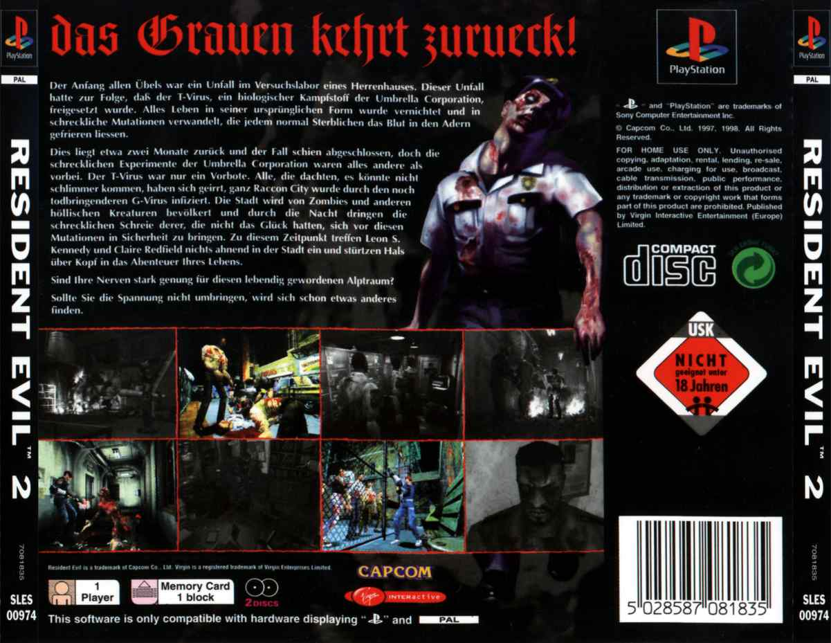 Screenshot thumbnail media file 6 for resident evil 2 g disc 1