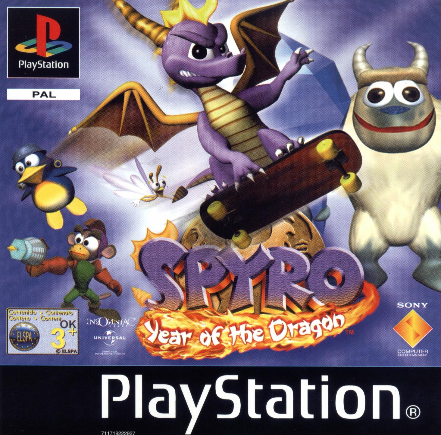 All Playstation 1 Games : Spyro the dragon ps series