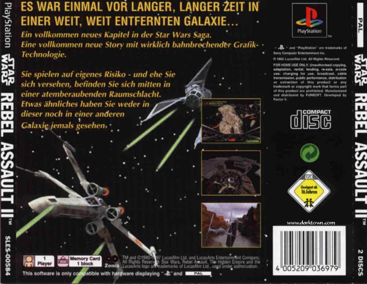 for Star Wars - Rebel Assault II - The Hidden Empire (G) (Disc 1