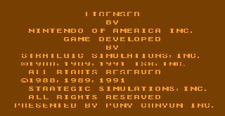 Screenshot Thumbnail / Media File 1 for Advanced Dungeons & Dragons - Pool of Radiance (USA)